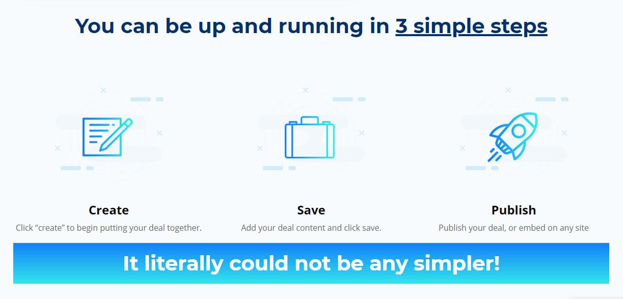 3 Simple Steps to running your campaign