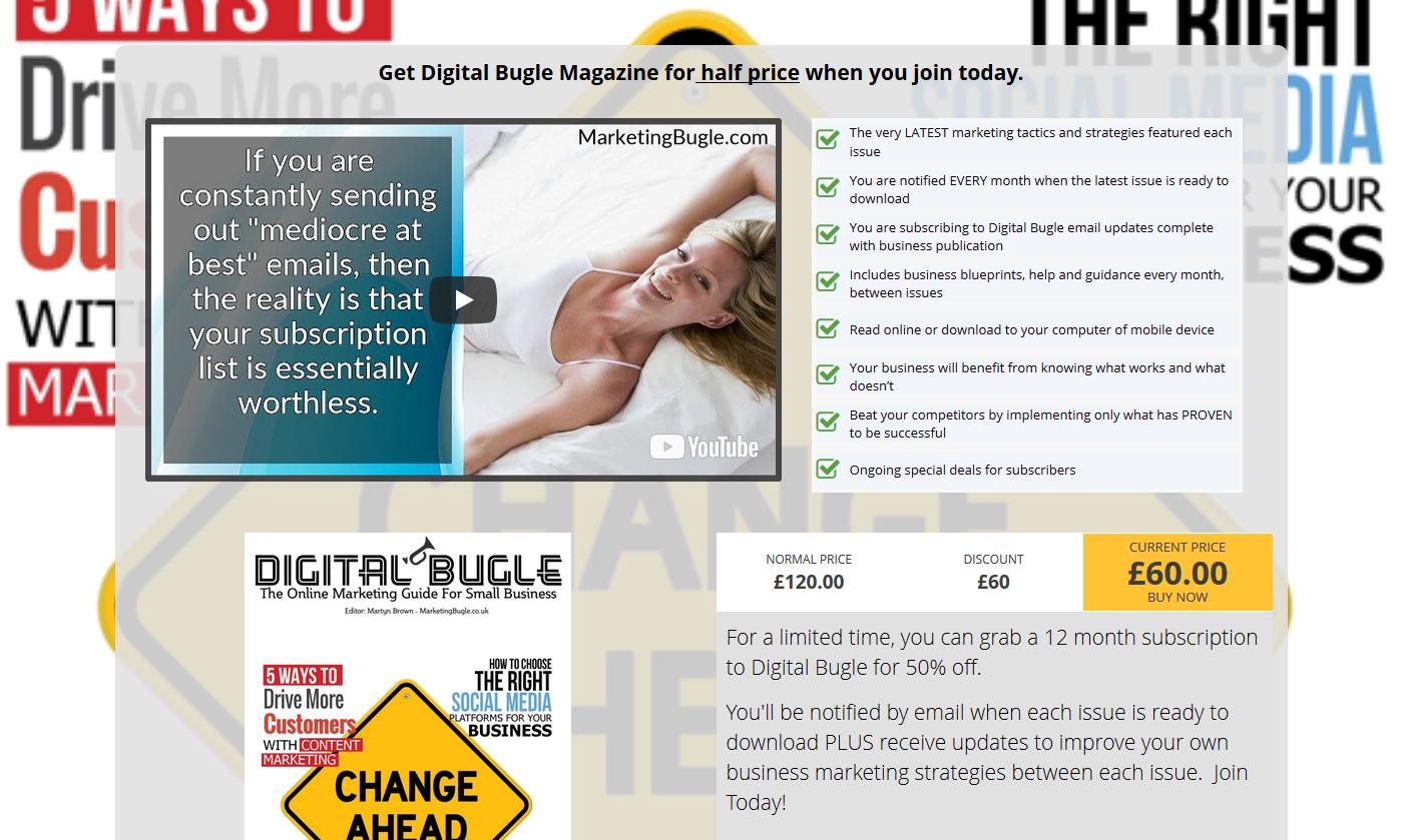 Deal Zapper Digital Bugle page