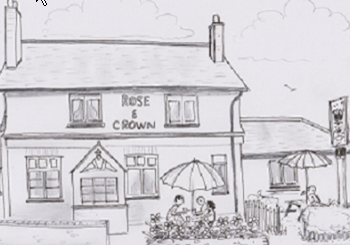 Rose and Crown Drawing
